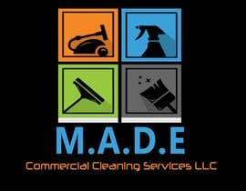 ElNagaar tarafından Need logo done for Cleaning Business. Company name is M.A.D.E Commercial Cleaning Services LLC. Company cleans offices in commercial buildings such as banks, daycares, doctor offices, corporate offices, schools.  Vacuums, brooms and mops are used. için no 9