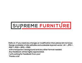 #167 for Create Logo - Supreme Furniture by Arfanmahedi
