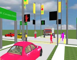 #48 for Graphic Design of a road way and people crossing the road by sonnybautista143