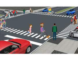 #36 for Graphic Design of a road way and people crossing the road by mdmostofagazi1y