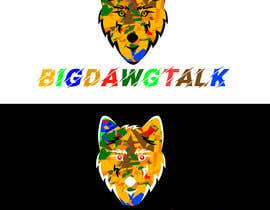 Nro 10 kilpailuun I need a colorful clean graphic of a dog face similar to the attached for T-shirt. Underneath graphic should read BigDawgTalk käyttäjältä asifislam7534