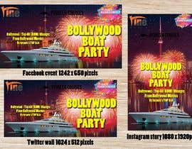 #37 for Designing Creatives for Bollywood Boat Cruise Party by naimurr018