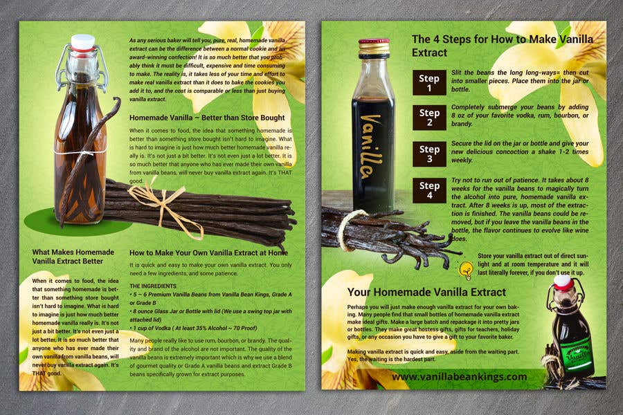 Entry #13 by gkhaus for Vanilla Extract Recipe Design