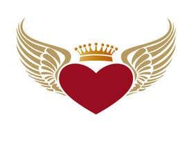 #126 untuk Create a heart with wings and crown Vector Image oleh izoka01