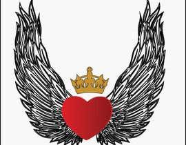 #93 untuk Create a heart with wings and crown Vector Image oleh Rezeka