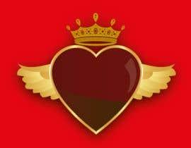 #100 untuk Create a heart with wings and crown Vector Image oleh shiekhrubel