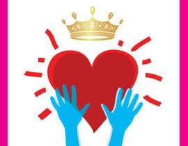 #117 untuk Create a heart with wings and crown Vector Image oleh shiekhrubel
