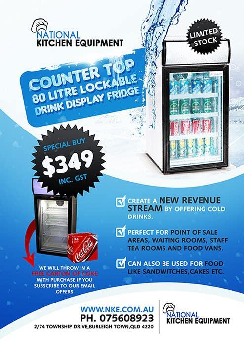 Kilpailutyö #                                        10                                      kilpailussa                                         Flyer Design for Counter Top Display Fridge