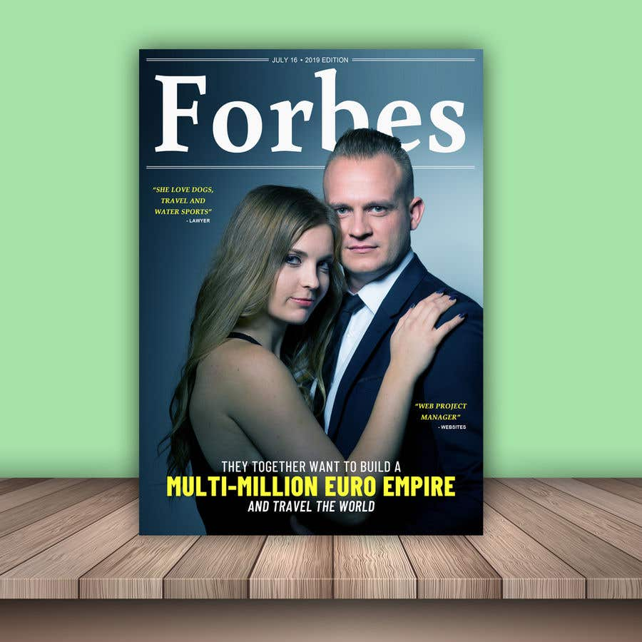 Konkurrenceindlæg #13 for Create a Forbes magazine poster.