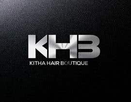 #22 untuk I am a hair company that sell hair. The name of my hair company is KHB (Kitha Hair Boutique). I need a logo design I want the letter KHB to stand out. I prefer colors Pink, Gold, & Black or Red, Gold, & Black. oleh sazedurrahman02
