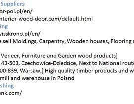 #11 for Wholesale suppliers of construction materials in Poland af madihajunaid