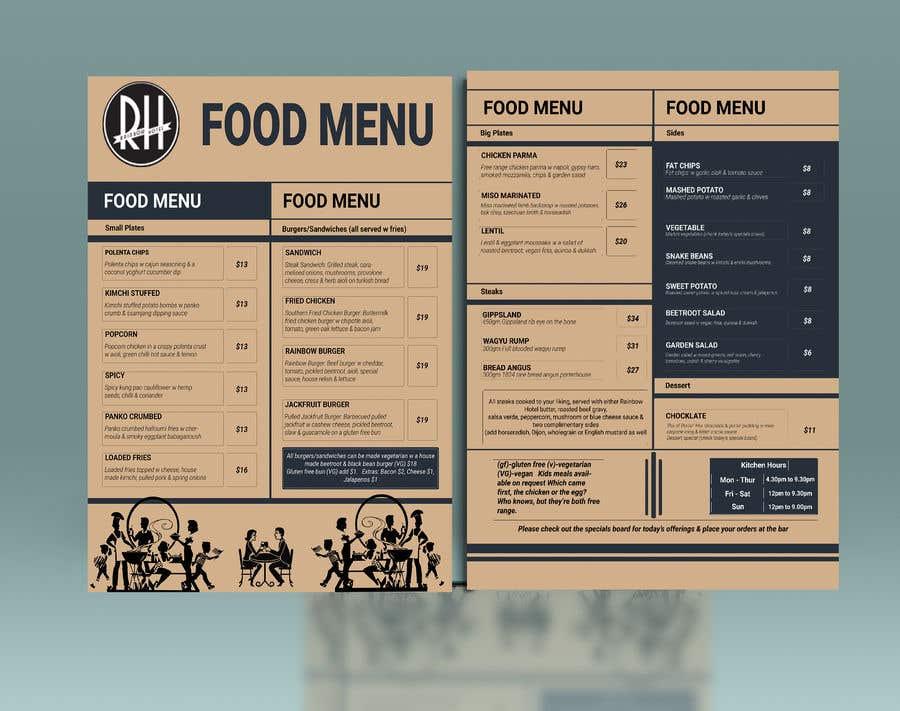 Kilpailutyö #8 kilpailussa I need a graphic designer to re-design our menu