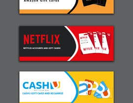 #31 for 3 Banners for my online gift card store by mrakash1971