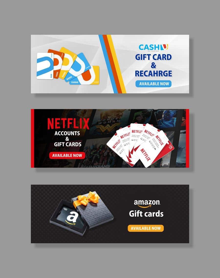 Конкурсная заявка №36 для 3 Banners for my online gift card store