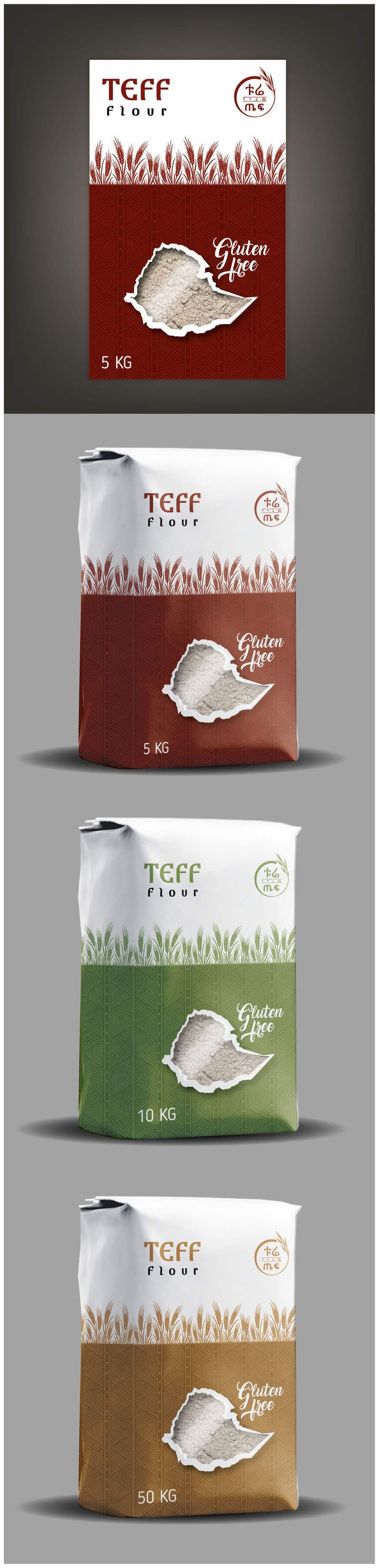 Penyertaan Peraduan #53 untuk Packaging for Teff flour.