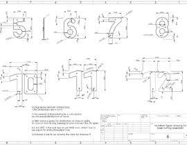 #32 cho Design big numbers (CAD) to be made in metal bởi rozerbagh456