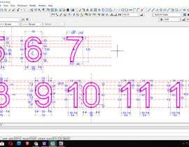 #34 cho Design big numbers (CAD) to be made in metal bởi jon75ok