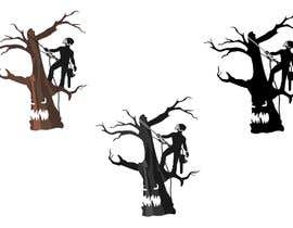 #295 for logo of a scary dead tree and a arborist on it af misicivana