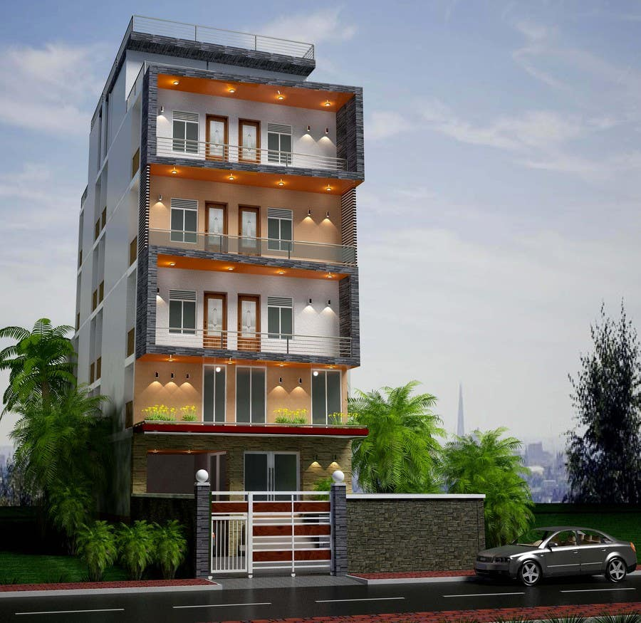 Luxury Apartment: Design Exterior Of Luxury Apartment Building, Choose Color