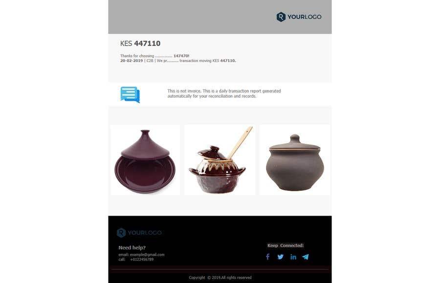 Penyertaan Peraduan #31 untuk Design HTML email template