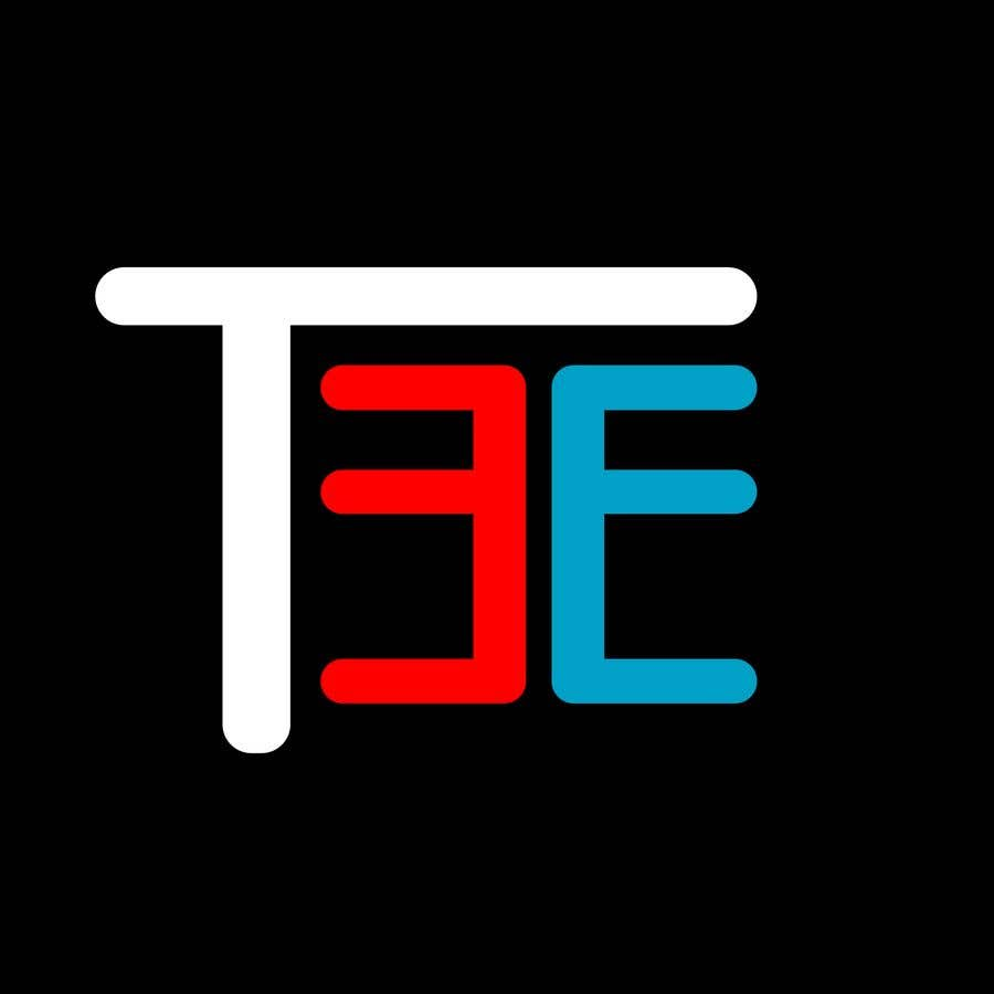Contest Entry #84 for Logo with word: T3E using the following colors: white, red, light blue