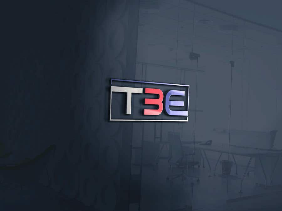 Contest Entry #72 for Logo with word: T3E using the following colors: white, red, light blue