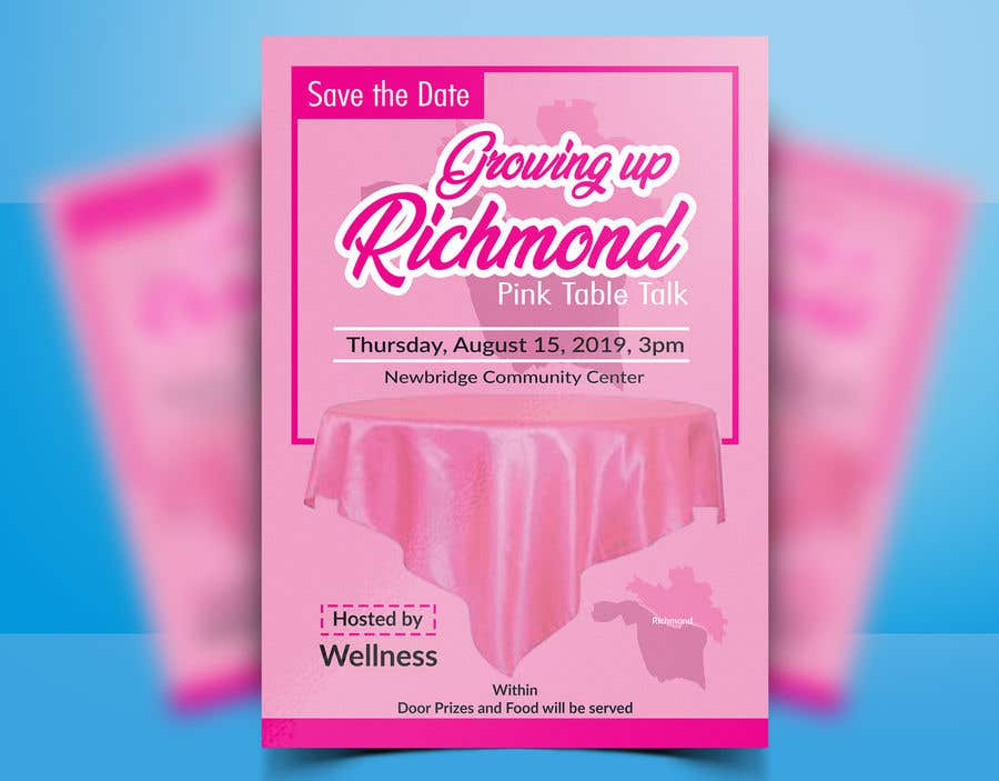 Penyertaan Peraduan #76 untuk Pink Table Talk Flyer