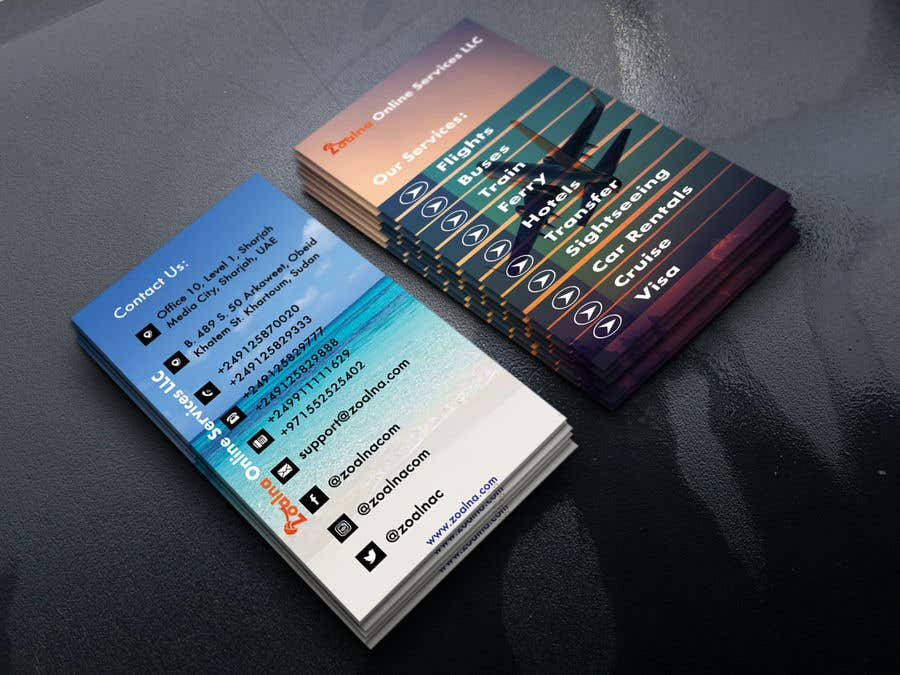 Contest Entry #33 for Business card for travel services  company