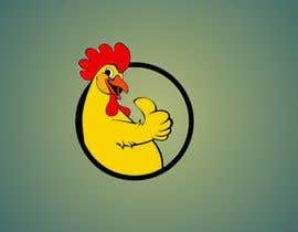 #19 cho I need a chicken in a circle winking with a military cheeky smile bởi trissnobee