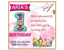 #48 for 1st bday invite by sumairfaridi