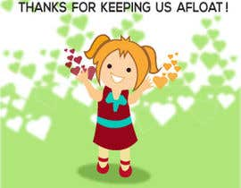 "#11 untuk Design an animated and funny image with the caption ""Thanks for keeping us afloat!"" oleh Tawsib"