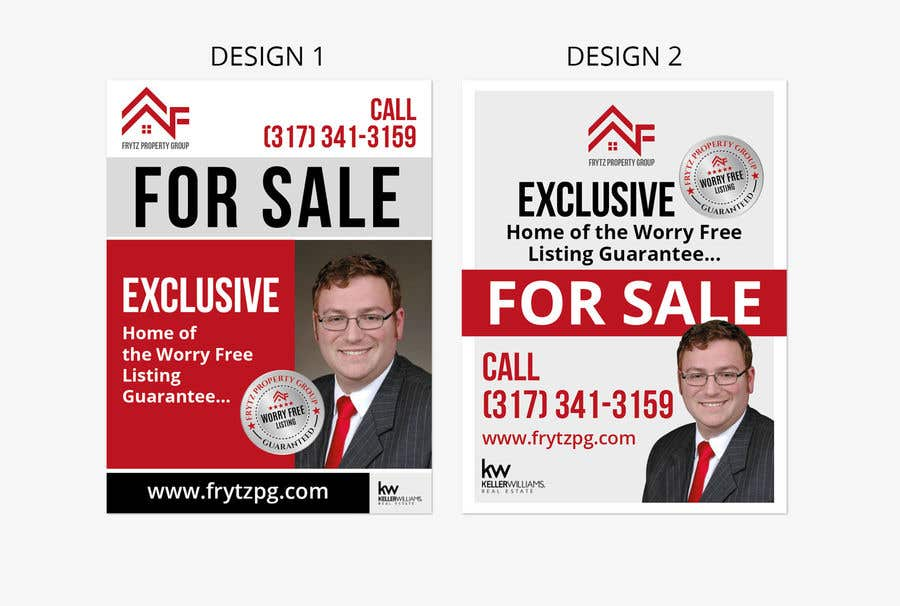 Kilpailutyö #35 kilpailussa Real Estate for sale sign