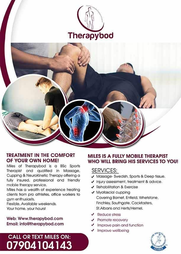 Contest Entry #106 for Flyer needed for therapy/massage business. High quality design and print clear.