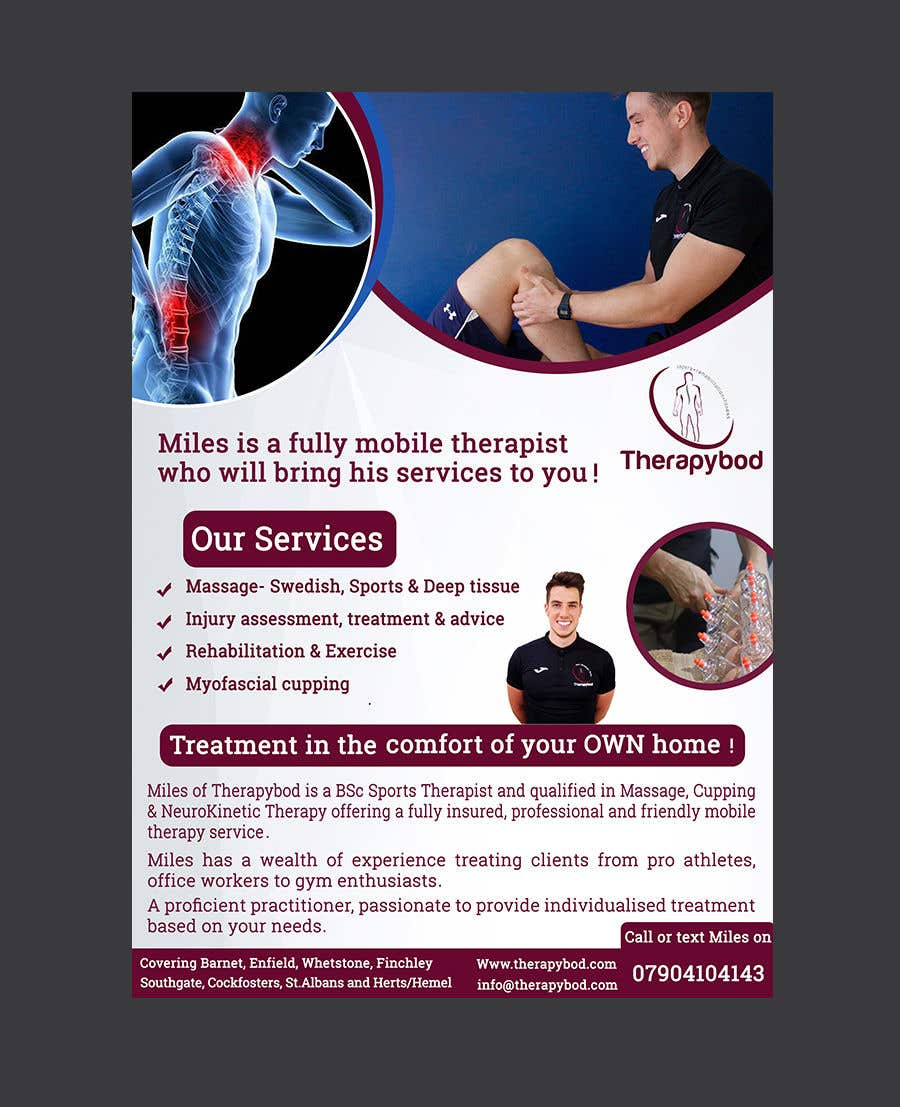 Contest Entry #42 for Flyer needed for therapy/massage business. High quality design and print clear.