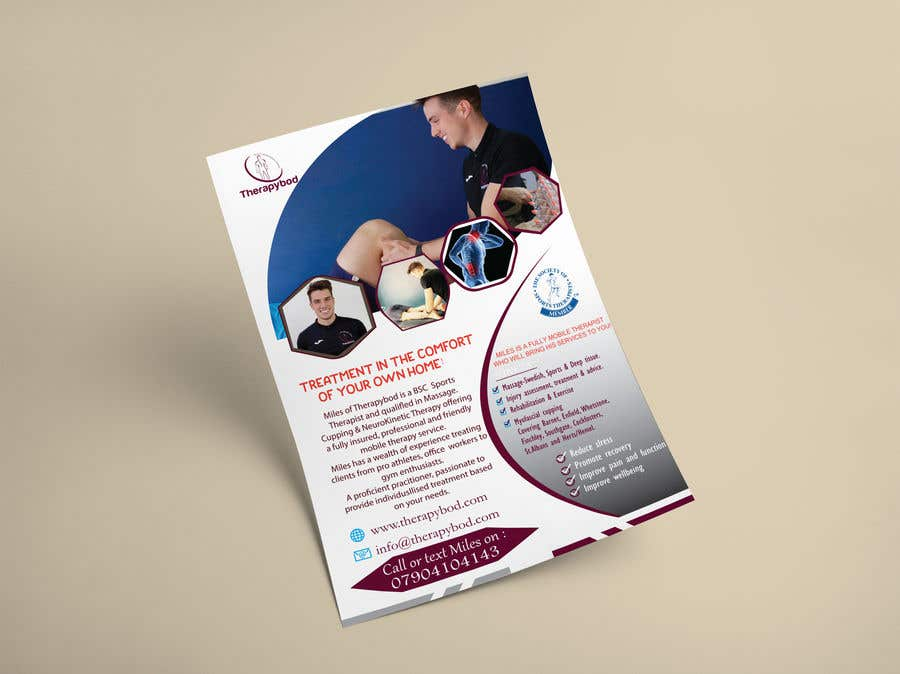 Contest Entry #61 for Flyer needed for therapy/massage business. High quality design and print clear.