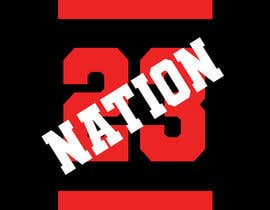 #43 for I need 'nation' in white writing sloped though the number 23 by HashamRafiq2