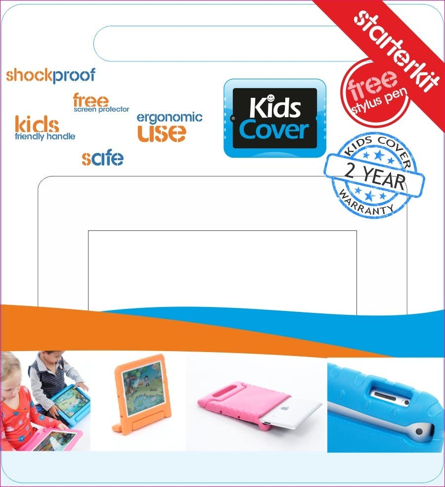 Contest Entry #                                        11                                      for                                         Packaging Design for Shockproof Kids iPad Case