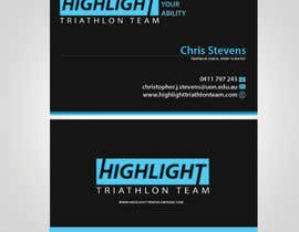 sulemankhan2010 tarafından Business Card Design for Highlight Triathlon Team için no 50