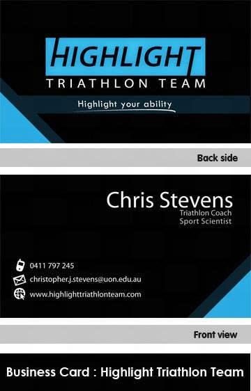 Inscrição nº 21 do Concurso para Business Card Design for Highlight Triathlon Team