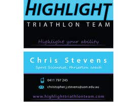 #53 cho Business Card Design for Highlight Triathlon Team bởi AnaKostovic27