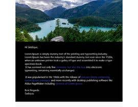 #74 для Make an HTML email template + signature от siddique1092