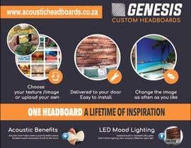 Nro 78 kilpailuun Expo stand: Genesis custom headboards käyttäjältä ScribbleStudioSA
