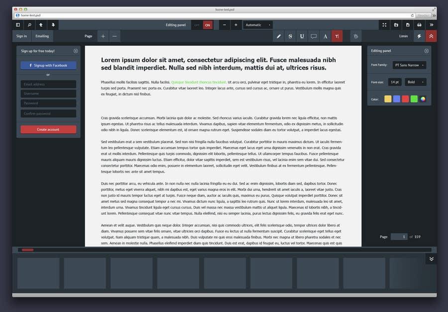 Entry #9 by Telehousemo for Design a skin for pdf js | Freelancer