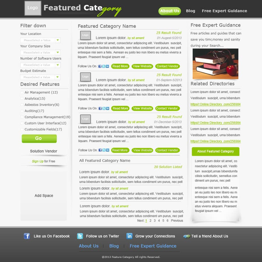 Contest Entry #                                        6                                      for                                         Design one Search Results homepage
