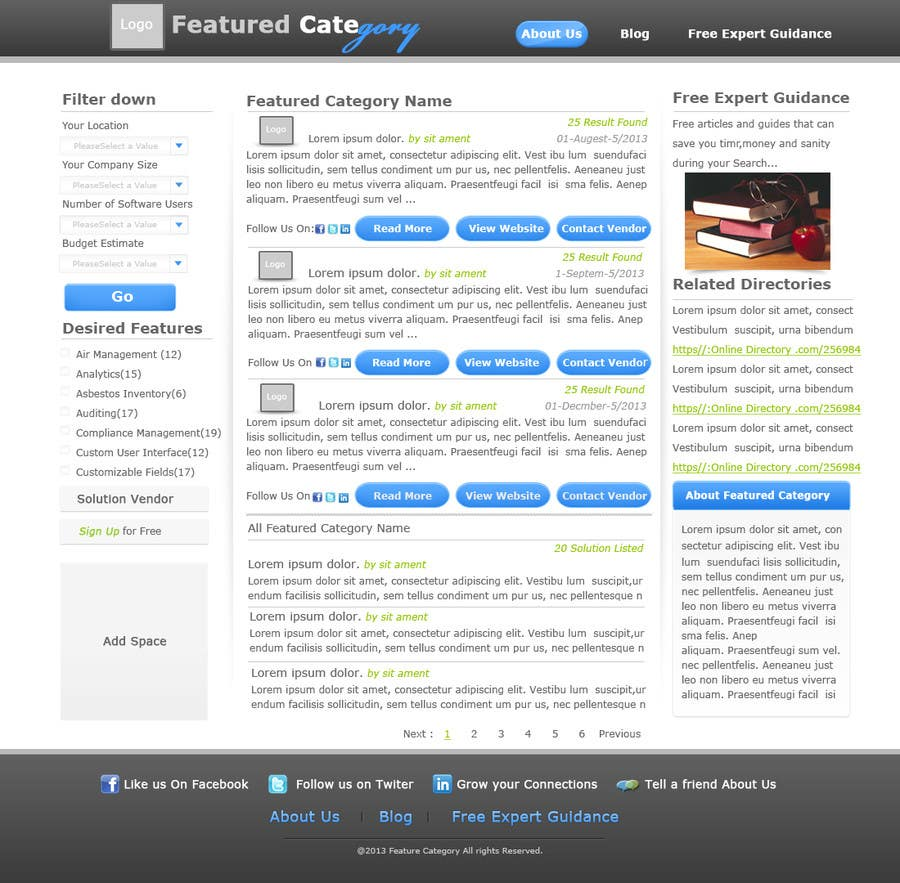 Contest Entry #                                        17                                      for                                         Design one Search Results homepage