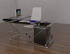 #49 for Carbon fiber office desk design - Aluminium legs by na4028070