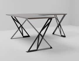#30 for Carbon fiber office desk design - Aluminium legs by huybpt
