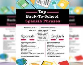 Nro 17 kilpailuun Design 1 page digital poster - Top Spanish Phrases for kids käyttäjältä islamsoyful456
