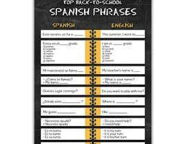 Nro 25 kilpailuun Design 1 page digital poster - Top Spanish Phrases for kids käyttäjältä icaglayanlar