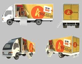 Nro 6 kilpailuun 3D rendering and perspective layout for mobile grocery shop käyttäjältä mikiyastezera